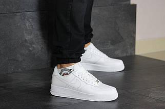 Белые мужские кроссовки прессованная кожа Force 8419, фото 3