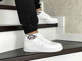 Белые мужские кроссовки прессованная кожа Force 8419, фото 2
