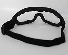 Очки маска тактическая, защитная маска, маска на стройку, страйкбольная маска Tactical(mask-sm-black), фото 2
