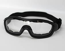 Очки маска тактическая, защитная маска, маска на стройку, страйкбольная маска Tactical(mask-sm-black), фото 3