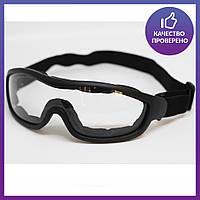 Очки маска тактическая, защитная маска, маска на стройку, страйкбольная маска Tactical(mask-sm-black)