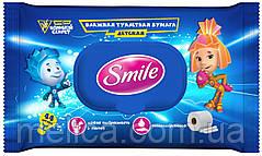 Влажная туалетная бумага Smile Фиксики для детей - 44 шт.