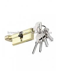 Цилиндровый механизм PALADII ST 60мм (30Т*30)SB Желто матовый ключ/поворотник 5 кл.