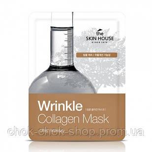 1+1 Тканевая маска с колагеном The Skin House Wrinkle Collagen Mask