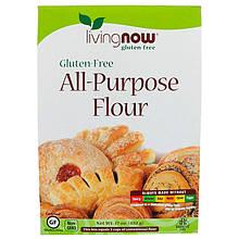 "Безглютеновая мука для выпечки NOW Foods, Living Now ""All-Purpose Flour Gluten-Free"" (482 г)"