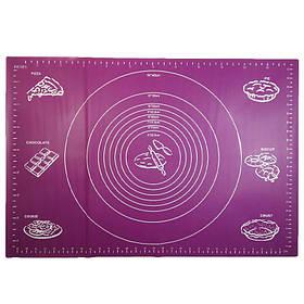 Силиконовый коврик Ytech 65 х 45 см фиолетовый для раскатки теста