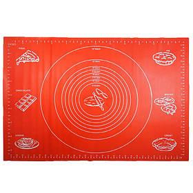Силиконовый коврик Ytech 65 х 45 см красный для раскатки теста