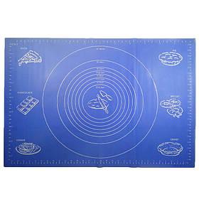 Силиконовый коврик Ytech 65 х 45 см синий для раскатки теста