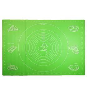 Силиконовый коврик Ytech 65 х 45 см зеленый для раскатки теста