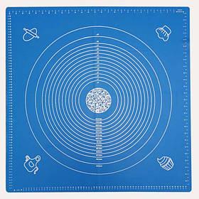 Силиконовый коврик GeN-A14 для раскатки и выпечки теста 70 х 70 см, синий