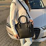Женская сумка c косметичкой черная  (1006), фото 3