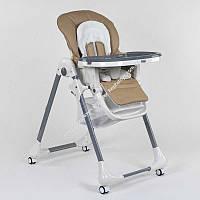 Стульчик для кормления Toti CB-2060  мягкий PU, мягкий вкладыш, 4 колеса, съемный столик, в коробке (ОПТОМ)