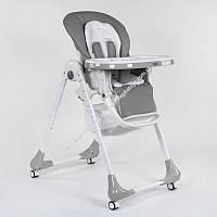 Стульчик для кормления Toti W-55800 мягкий PU, мягкий вкладыш, 4 колеса, съемный столик, в короб (ОПТОМ)