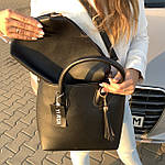 Женская сумка c косметичкой черная  (1006), фото 2