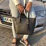Женская сумка c косметичкой черная  (1006), фото 5