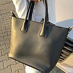 Женская сумка c косметичкой черная  (1006), фото 6