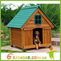 Будка для собаки «Бульдог-2» из дерева для улицы