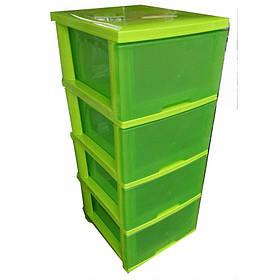 Комод Пластиковый Алеана 124093  Зелёный