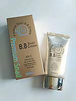 Корейский BB крем на основе улитки Mizac Premium Snail 4в1 spf50, бб крем 50мл
