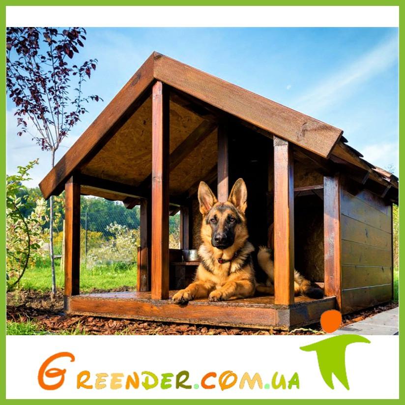 Будка Овчарка деревянные уличные для собак