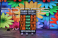Табло обмен валют (1000х1320, 6 валют), фото 1