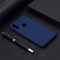 Чехол Soft Touch для Honor 8A силикон бампер темно-синий