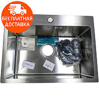 Мойка для кухни Imperial D5843 Handmade 3.0/1.2 нержавеющая сталь