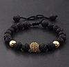 Мужской каменный браслет mod.Sfera золото