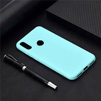 Чехол Soft Touch для Honor 8A силикон бампер мятно-голубой