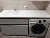 Умывальник литой со столешницей над стиральной машиной (изготовление на заказ по вашим размерам)