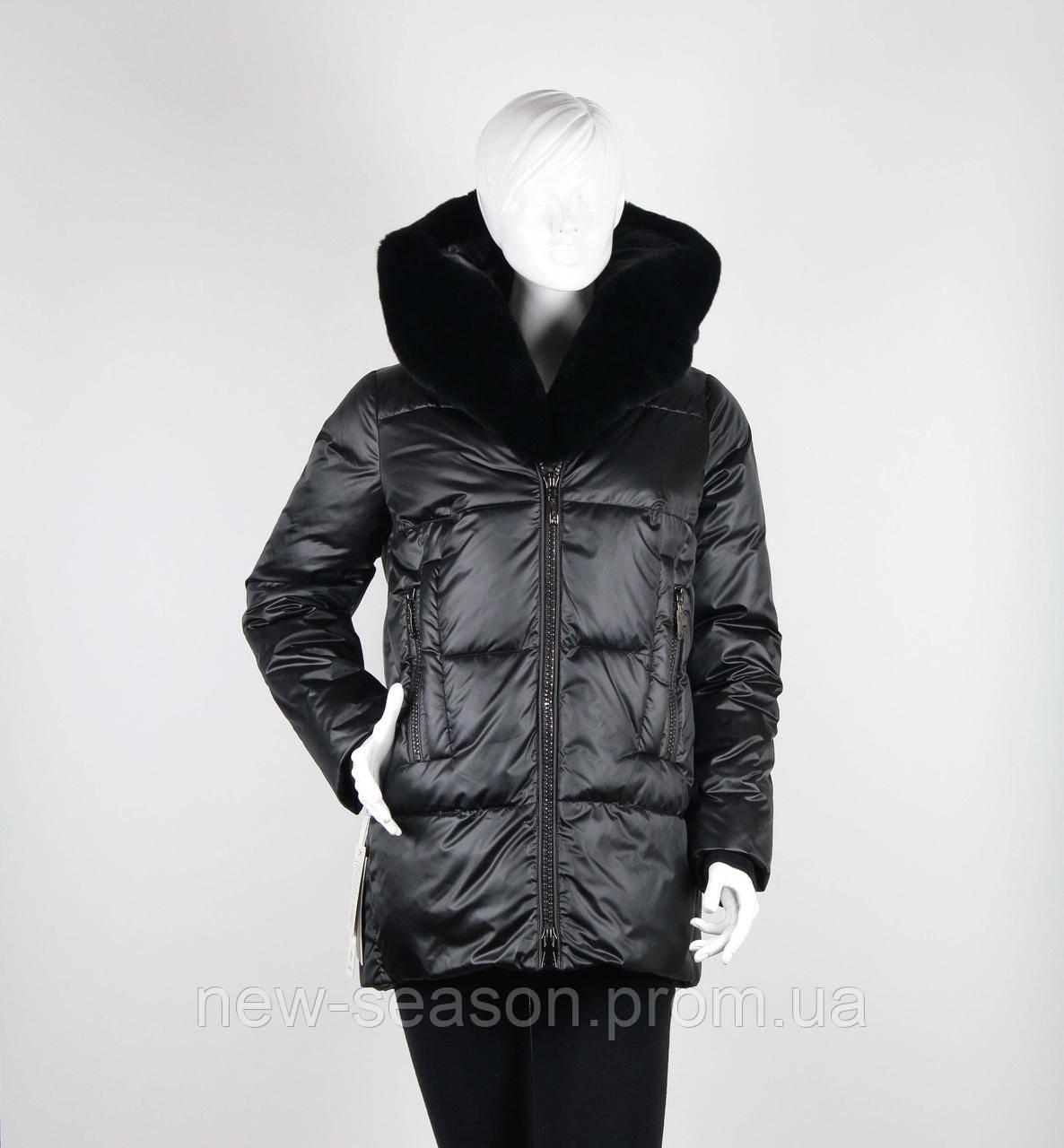 Куртка Batterflei 1932 с мехом бобрика черный