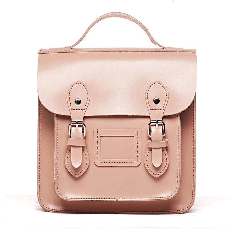 Рюкзак портфель женский розовый.