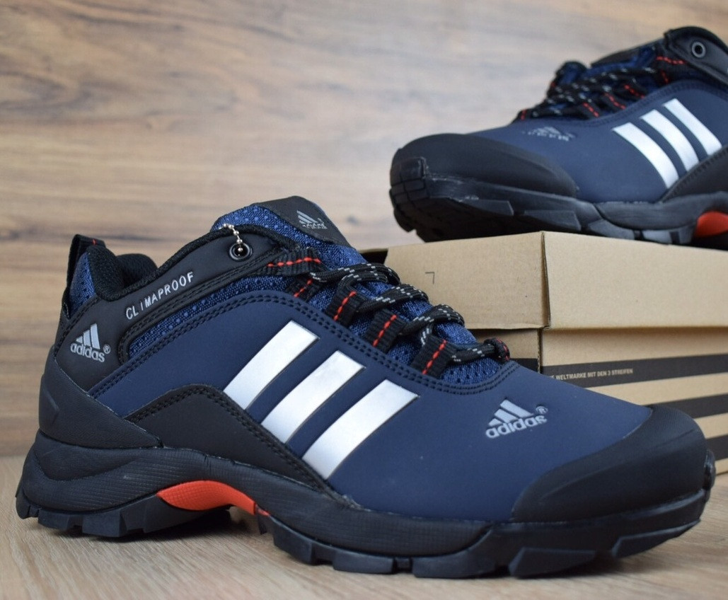 Зимние мужские кроссовки Adidas Climaproof низкие синие 41-46рр. Живое фото. Реплика
