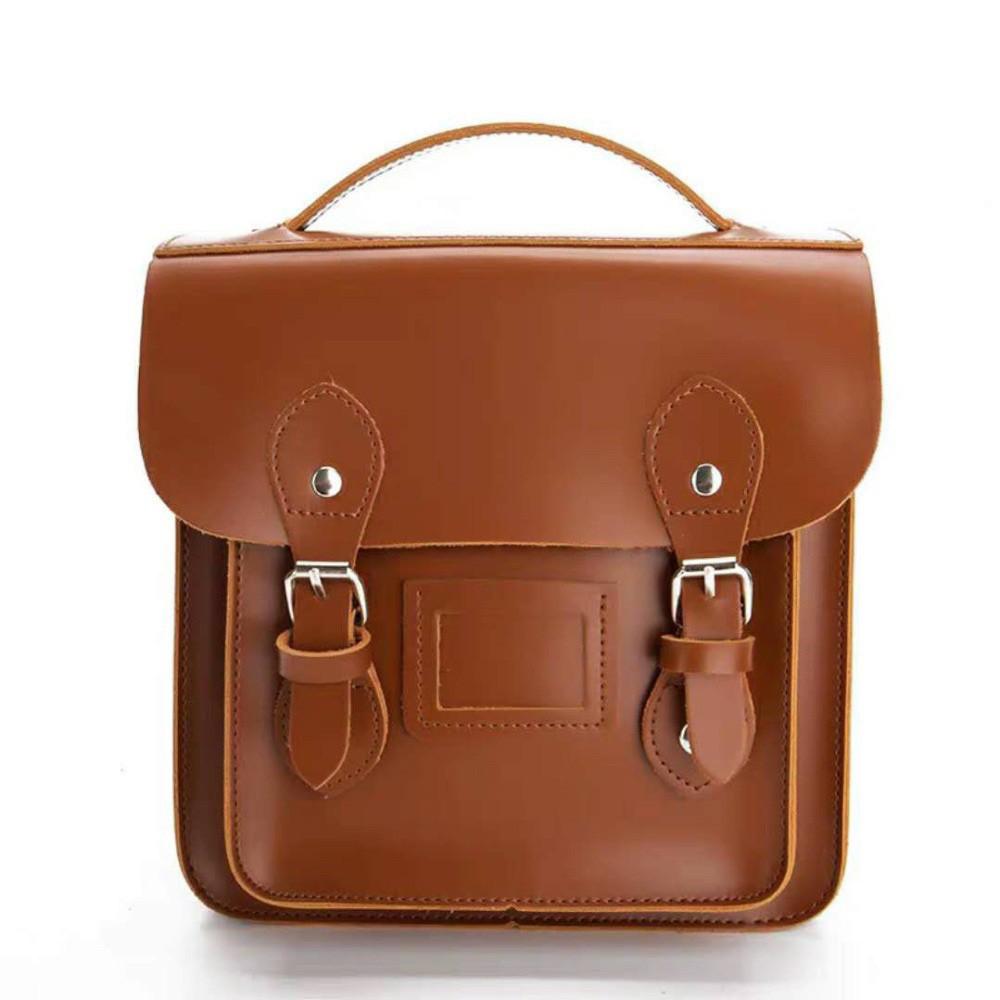 Рюкзак портфель винтажный рыжий.