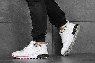 Мужские кроссовки белые NB эко замша 8431, фото 2