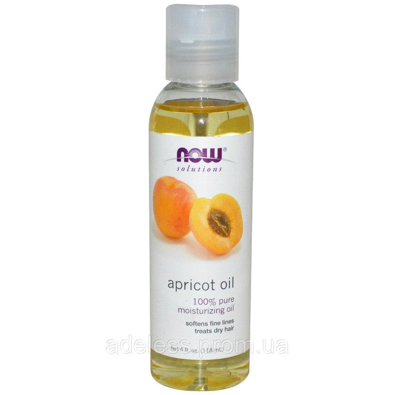 Масло абрикоса Now Foods Solutions Apricot Oil, 118 мл.