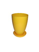 """Вазон-кашпо """"МАТИЛЬДА"""" с подставкой V=0,95л (d=12см h=15см) темно-желтый """"Омела"""""""