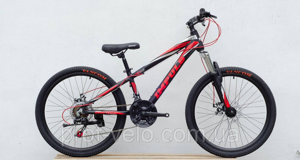 Велосипед спортивный IMPULS 24 PLASMA чёрно-синяя