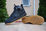 Мужские теплые кроссовки Nike Lunar Force 1 Duckboot black без меха 41-45рр. Живое фото(Реплика ААА+), фото 3