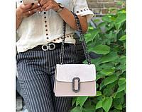 Женская итальянская сумка Laura Biaggi (329) кожаная пудровая, фото 1