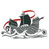 Виниловая наклейка на стену Корабль