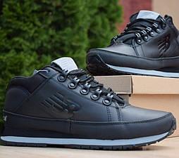 Зимние кроссовки New Balance 754 black без меха термо. Живое фото (Реплика ААА+)