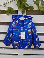 Детская демисезонная куртка для мальчиков Снупи на рост 110, 116 см