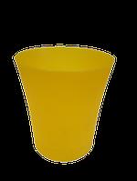 "Вазон ""Орхидея"" желто-прозрачный V=0,9л (d=12,5см,h=14см)  ""Ламела"""