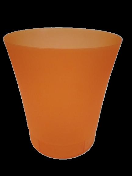 """Вазон """"Орхидея"""" оранжево-прозрачный V=0,9л (d=12,5см,h=14см)  """"Ламела"""""""
