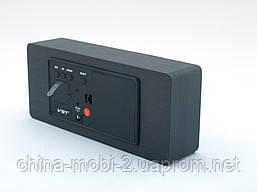 Часы настольные VST-865 с цифровым циферблатом, темный дум с красными цифрами, фото 2