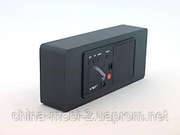 Часы настольные VST-865 с цифровым циферблатом, темный дум с красными цифрами, фото 3