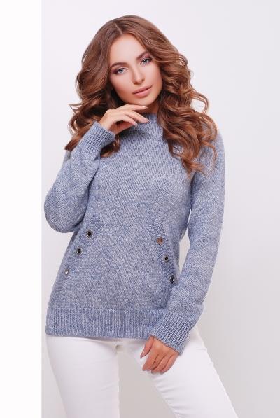 S-L / В'язаний светр/реглан Daisy, світло-синій