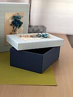 """Декоративная коробка """"Сухоцвет""""синего цвета для подарков """"S"""""""
