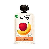 Пюре BIO be plus з органічних фруктів (яблуко та банан), 100 грам